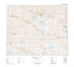 AB073D - WAINWRIGHT - Topographic Map. The Alberta 1:250,000 scale paper topographic map series is part of the Alberta Environment & Parks Map Series. They are also referred to as topo or topographical maps is very useful for providing an overview of a
