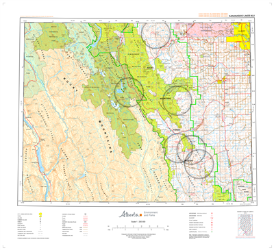 AB082J - KANANASKIS LAKES - Topographic Map. The Alberta 1:250,000 scale paper topographic map series is part of the Alberta Environment & Parks Map Series. They are also referred to as topo or topographical maps is very useful for providing an overview o