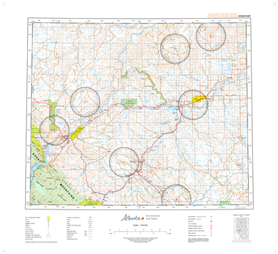 AB083F - EDSON - Topographic Map. The Alberta 1:250,000 scale paper topographic map series is part of the Alberta Environment & Parks Map Series. They are also referred to as topo or topographical maps is very useful for providing an overvi