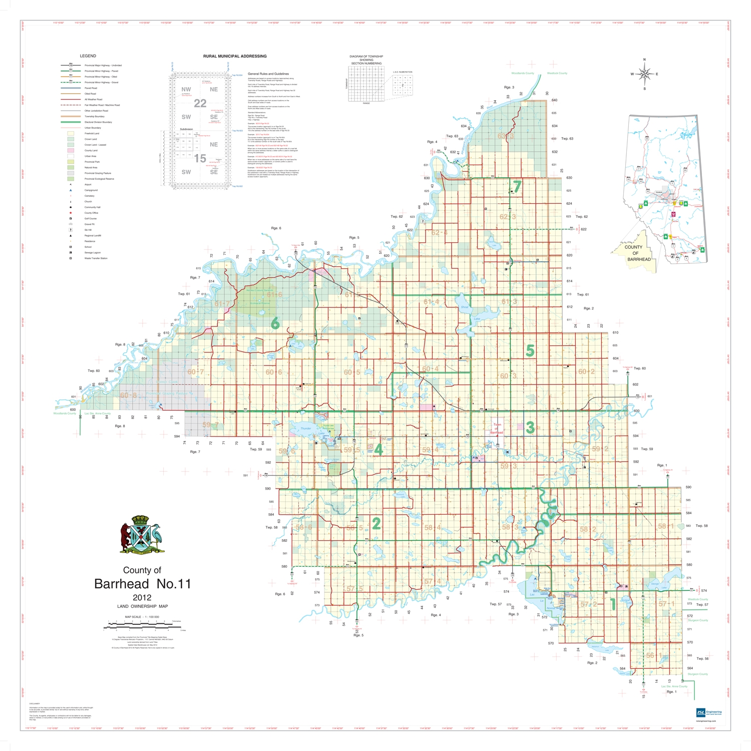 Land Ownership Maps Barrhead County Landowner map   County 11. County and Municipal