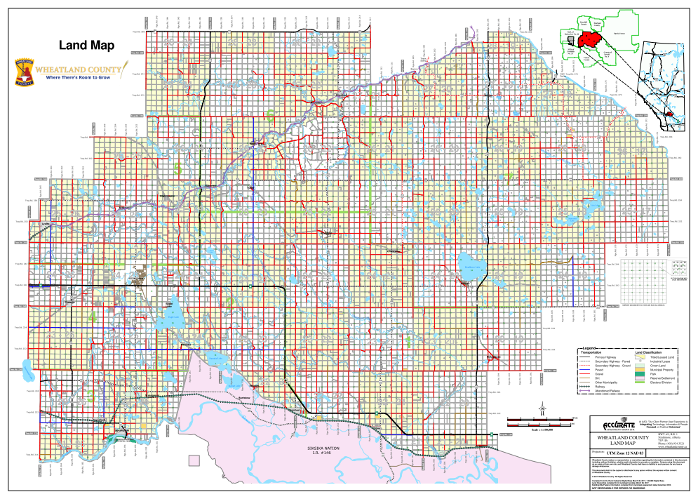 Wheatland County Landowner map - County 16. County and ...