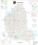 Stettler County Landowner map. County 6. County and Municipal District (MD) maps show surface land ownership with each 1/4 section labeled with the owners name. Also shown by color are these land types, Crown (government), Freehold (private) and Crown La