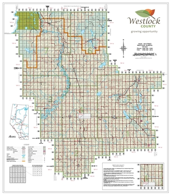 Westlock County Landowner Map - County 92. County and Municipal District (MD) maps show surface land ownership with each 1/4 section labeled with the owners name. Also shown by color are these land types - Crown (government), Freehold (private) and Crown