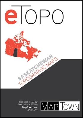 ETOPO Saskatchewan Digital Topographic Base Maps. Includes every 1:50,000 and 1:250,000 scale Canadian topographic map for Saskatchewan. If you are planning on hiking, camping, fishing, cycling or just plain travelling through this area we highly recommen