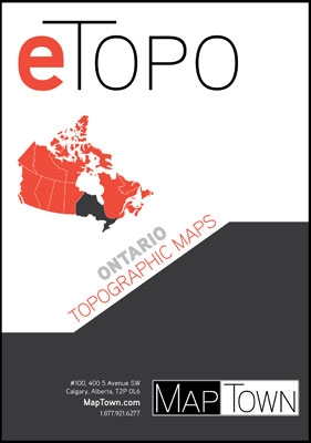 Ontario  Etopo Digital Maps. Includes every 1:50,000 and 1:250,000 scale Canadian topographic map for Ontario. If you are planning on hiking, camping, fishing, cycling or just plain travelling through this area we highly recommend this package. Canadian t