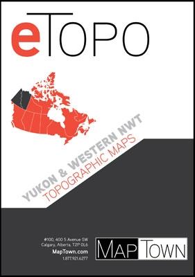ETOPO Yukon & Western NWT Digital Topographic Base Maps. Includes every 1:50,000 and 1:250,000 scale Canadian topographic map for Yukon and Western Northwest Territories. If you are planning on hiking, camping, fishing, cycling or just plain travelling th