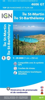 St Martin and St Barthelemy Institut Geographique National