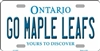"Go Maple Leafs - Yours to Discover Ontario Metal License Plate. Heavy duty metal that can go on the front of the car or in your man cave. This 6"" x 12"" automotive high gloss metal license plate tag is made of the highest quality aluminum for a weather res"