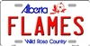"Calgary Flames - Alberta Metal License Plate. Heavy duty metal that can go on the front of the car or in your man cave. This Wild Rose Country  6"" x 12"" automotive high gloss metal license plate tag. Made of the highest quality aluminum for a weather resi"