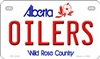 "Edmonton Oilers - Alberta Metal License Plate. Heavy duty metal that can go on the front of the car or in your man cave. This Wild Rose Country 6"" x 12"" automotive high gloss metal license plate tag. Made of the highest quality aluminum for a weather resi"