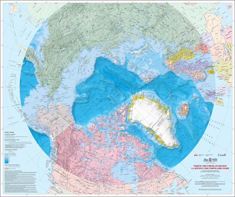 Map Of Canada Resources.North Circumpolar Region Natural Resources Canada