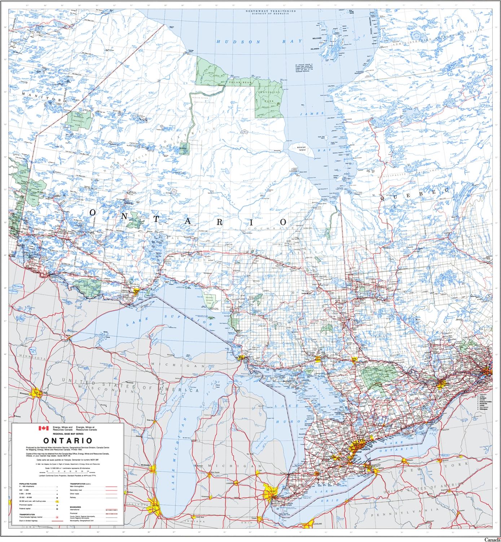 Ontario Provincial Base Map 1:2,000,000