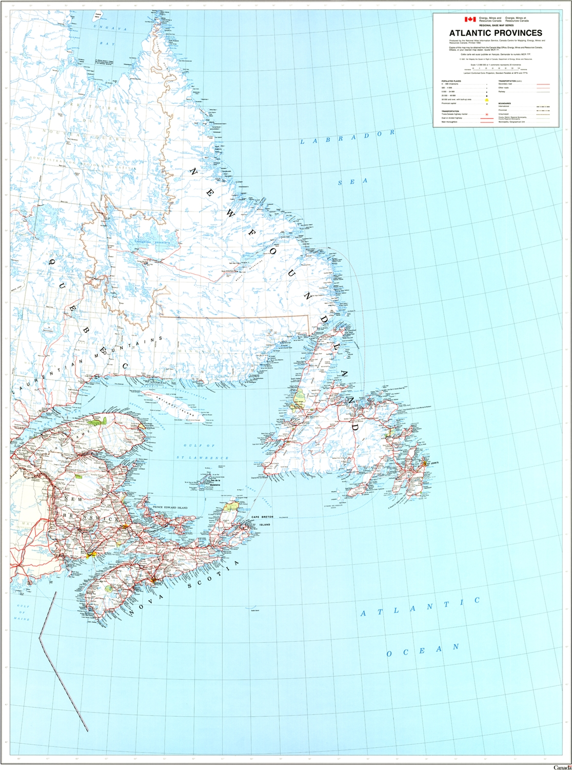 Show Map Of Canada With Its Provinces.Atlantic Provinces Base Map