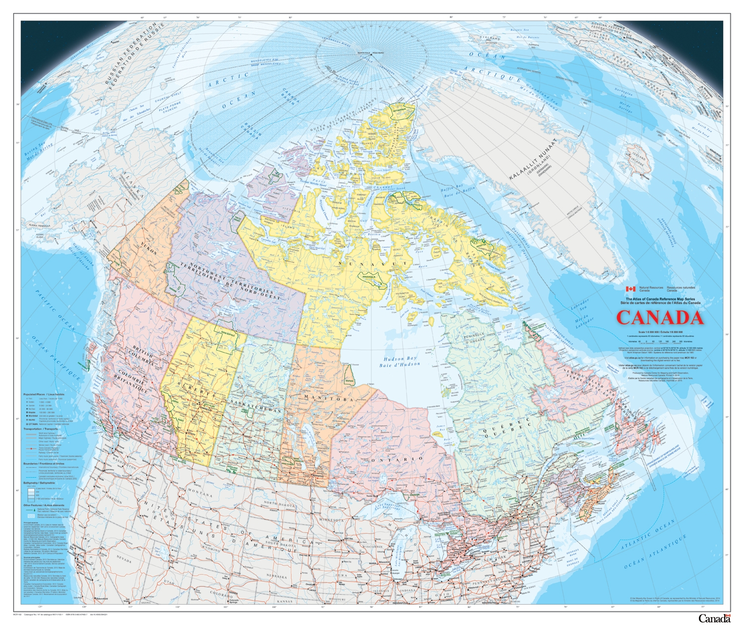 Canada Political Natural Resources Canada Wall Map This Map Is The Latest Publication In The Atlas