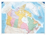Canada Political Natural Resources wall map - XL. The largest of the Atlas of Canada wall maps, this colorful edition features several significant information updates. Approximately 150 place names have been added or renamed, particularly in northern and