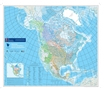 Watersheds of North America Wall Map. This map shows watershed basins in Canada, the USA and Mexico, along with which body of water it drains into, including the Pacific, Atlantic, Arctic, Hudson Bay, Gulf of Mexico or the Caribbean Sea. This map is part