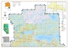 Big Lakes Municipal District Landownership map - MD125. County and Municipal District (MD) maps show surface land ownership with each 1/4 section labeled with the owners name. Also shown by color are these land types - Crown (government), Freehold (privat