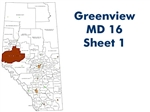Greenview MD 16 Landowner map - Sheet 1 Valleyview. County and Municipal District (MD) maps show surface land ownership with each 1/4 section labeled with the owners name. Also shown by color are these land types - Crown (government), Freehold (private)