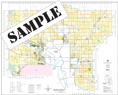 Rockyview County Landowner map - MD 44. County and Municipal maps mainly exist to show land ownership with each 1/4 section labeled with the owners name. Also shown by color coding is the crown lands and leased lands. The maps are also very current for