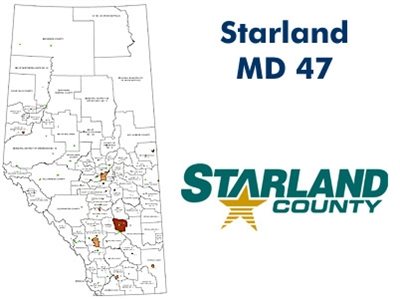 Starland Landowner Map - Municipal District 47. County and Municipal maps mainly exist to show land ownership with each 1/4 section labeled with the owners name. Also shown by color coding is the crown lands and leased lands. The maps are also very curren
