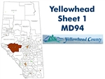 Yellowhead Municipal District 94 Map - Hinton. County and Municipal District (MD) maps show surface land ownership with each 1/4 section labeled with the owners name. Also shown by color are these land types - Crown (government), Freehold (private) and Cr