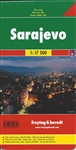 Sarajevo city map - Bosnia and Herzegovina. Freytag & Berndt road maps are available for many countries and regions worldwide. In addition to the clear design, and shaded relief these road maps have a lot of additional information such as; roads, sights,