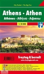 Athens Greece City Pocket Travel Map is an excellent double sided map of the central city that shows all the streets in Athens. It includes information on public transportation network with photographs and tourist information on the backside. Freytag and