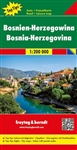 Bosnia and Herzegovina travel and road map. Freytag & Berndt road maps are available for many countries and regions worldwide. In addition to the clear design, and shaded relief these road maps have a lot of additional information such as; roads, sights,