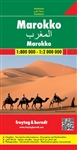Morocco Travel & Road Map. Folded, fully indexed map of Morocco, showing major roads, cities, and political boundaries at scales of 1:900,000 (for Morocco) and 1:2,250,000 (for Western Sahara). This map also details the locations of beaches, camp sites, c