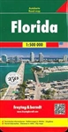 Florida USA Travel & Road Map. Tourist information also includes airports, railroads, ferries, and points of interest. This map is two sided with North on one side and South on the other. Distances in miles, city maps of Orlando, Jacksonville and Miami Be