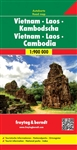 Vietnam Laos Cambodia Travel Map. The extensive index of local authorities also allows for a quick orientation. Tourist information also includes airports, railroads, ferries, and points of interest. Freytag & Berndt road maps are available for many count