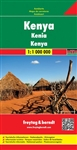 Kenya Travel Map Freytag & Berndt road maps are available for many countries and regions worldwide. In addition to the clear design, and shaded relief these road maps have a lot of additional information such as; roads, sights, camping sites and various t