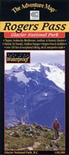 Rogers Pass Glacier National Park hiking map - summer version. Situated in SE British Columbia, Canada this map is specifically made for hiking, canoeing and other outdoor activities exploring in the summer. This map provides current information, is easy