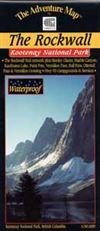 The Rockwall - Kootenay National Park BC map. This map is made specially for hiking, canoeing and other outdoor activities. Provides current information, is easy to read and is waterproof. Includes a detailed information guide.