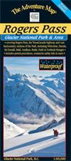 Rogers Pass - Glacier National Park BC map winter version. This great big beautiful map guide is targeted at skiers, snowboarders and snowshoers visiting one of the world's great destinations for back country alpine adventure. Special features include all