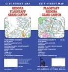 Flagstaff, Sedona, Grand Canyon city street map