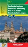 Camino de Santiago - Spain travel map & guide. Freytag and Berndt maps are some of the nicest maps available. They are extremely detailed with great colour and most of the maps have beautiful relief shading. Many of the maps are also double sided with pho