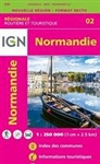 Basse et Haute-Normandie - France Regional Series - R02. The excellent regional scale France maps at a scale of 1:250,000 shows detailed roads, major tourist attractions, a street index and inset maps of the major cities in the region.