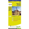 Nevers Autun France - Detailed Road Map. The brand new revision of the IGN Top 100 maps - originally designed for cyclists they should appeal to anyone who wants to explore their holiday area of France in detail by walking, cycling or by car. IGN say the