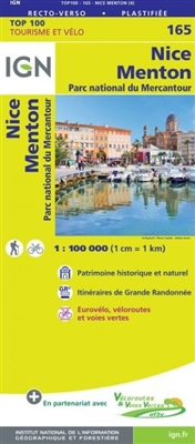 Nice Draguignan France - Detailed Road Map. The brand new revision of the IGN Top 100 maps - originally designed for cyclists they should appeal to anyone who wants to explore their holiday area of France in detail by walking, cycling or by car. IGN say t