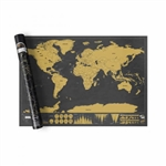 World Scratch Map Deluxe. Don't be fooled by cheap knock offs. Our Scratch Map Deluxe comes with copper foil printed on beautiful matte finish black paper. Scratch Map Deluxe poster also features fascinating info-graphics along the bottom, revealing a wea