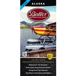 Alaska Motorcycle Map by Butler. This waterproof map provides detailed, easy to read information specifically for motorcyclists. The most dramatic sections of paved and dirt roads are highlighted in Butler Maps popular Gold, Red and Orange colors and are