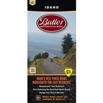 Idaho G1 Motorcycle waterproof map by Butler. You've heard of Lolo Pass? Well, now you have and there is no excuse to not go ride it. Find Lolo and 16 other incredible paved roads on this newly updated Idaho map. Including one of our favorites