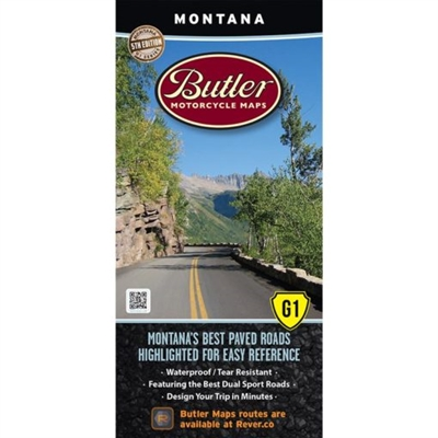 Montana G1 Motorcycle Map. Montana is Big Sky Country. You are probably imagining rugged mountains with gnarly roads stitching up their flanks. There is a bit of that here but you have to know where to look. Our newly updated Montana 5th Edition will poin