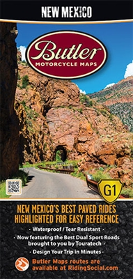 New Mexico Motorcycle Map Butler