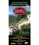 Washington Backcountry Discovery Route Motorcycle with unpaved roads. This backroad motorcycle map shows the 575-mile route that thoroughly explores the Cascade Mountains beginning in Stevenson, WA and making it to the Canadian border at Night Hawk.