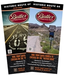 Historic Route 66 Motorcycle Map Butler