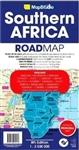 Southern Africa regional travel road map. This map of southern Africa includes Angola, Botswana, Democratic Republic of the Congo, Kenya, Namibia, South Africa, Tanzania, Zambia, and Zimbabwe. This map is up-to-date with all research compiled & updated