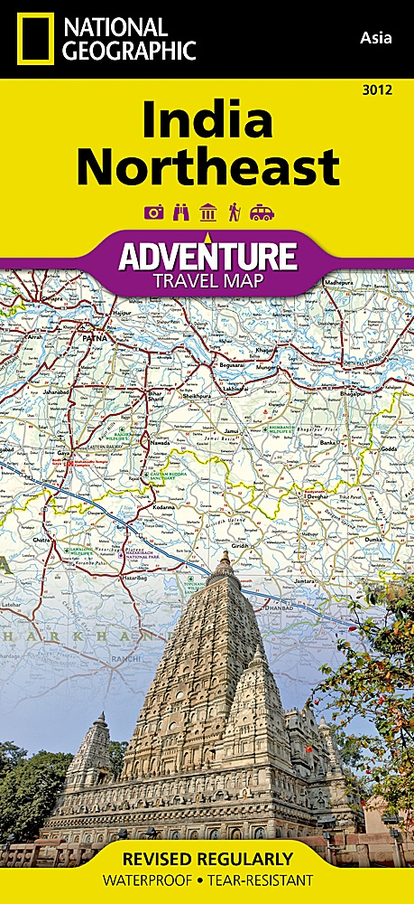 Map Of India Geographic.India Northeast National Geographic Adventure Map The Front Side Of