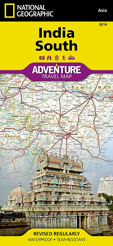 Map Of India Geographic.India South National Geographic Adventure Map